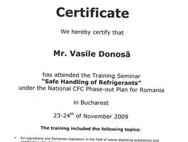 Certificare instruire freoni
