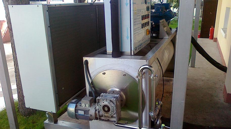 Executia si asamblarea tuburilor de transport pneumatic dupa procesul de macinare a produsului
